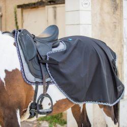 Couvre reins cheval Monogramme noir - Oxxer