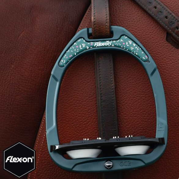 Etriers green composite Flex-on - Equestra