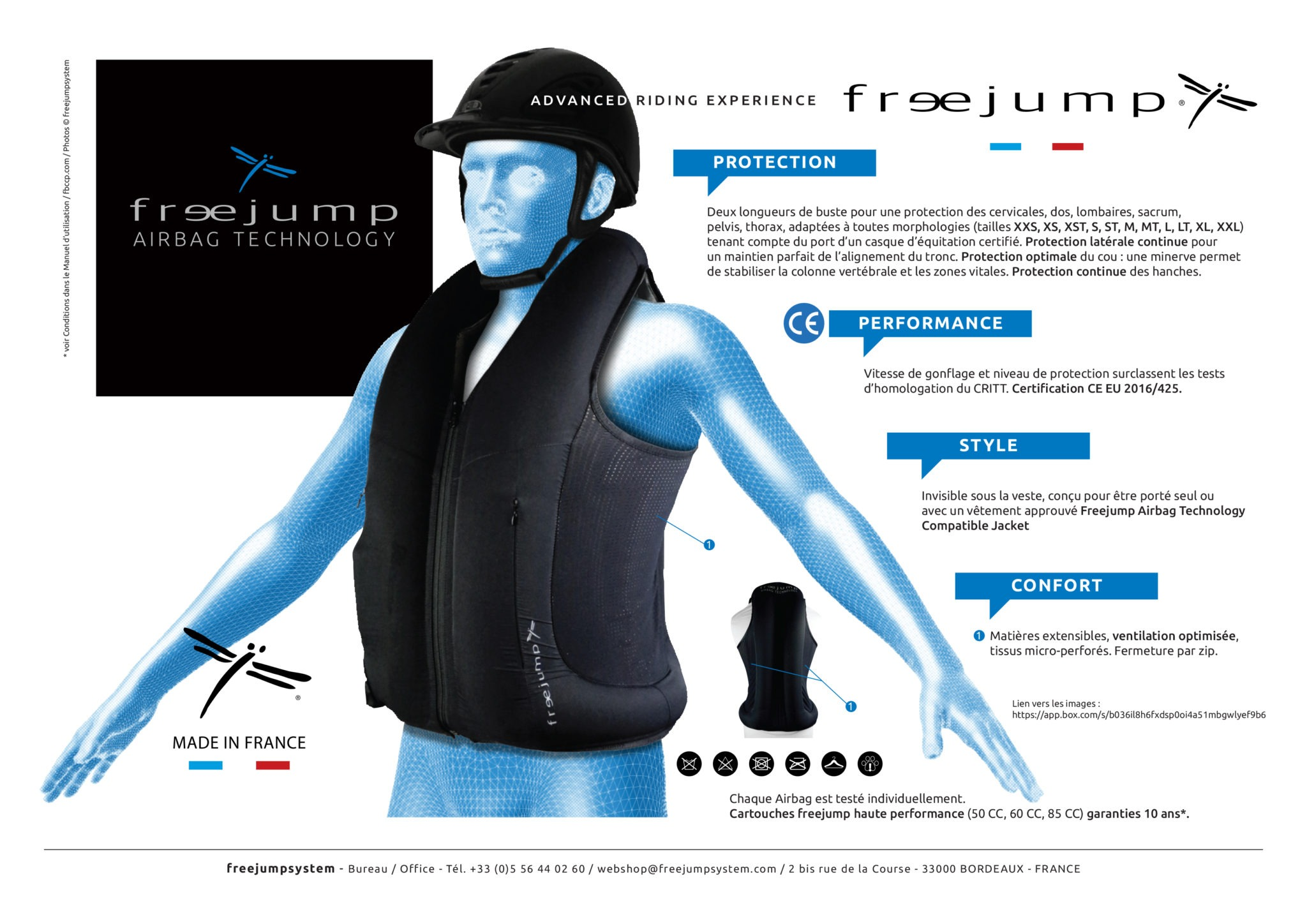 gilet airbag Freejump caractéristiques - Equestra