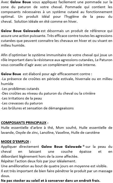 Soin pâturons 250 g Galow Boue Galowade