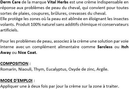 Crème soin peau cheval Derm Care Vital Herbs