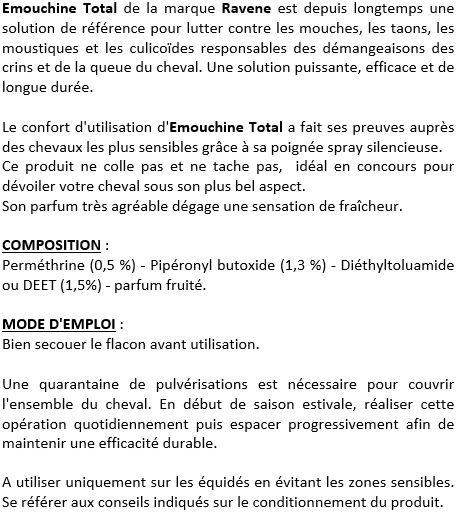 Emouchine total répulsif anti-insectes 500 ml Ravene