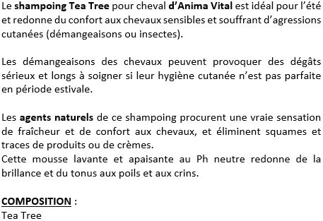 Shampoing apaisant 1 L Tea Tree Anima Vital