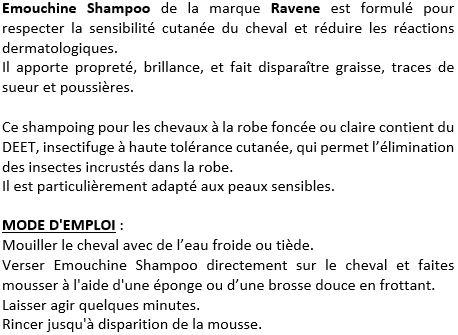 Shampoing anti-insectes Emouchine Shampoo Ravene