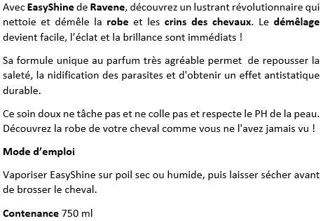 Lustrant démêlant 750 ml EasyShine Ravene