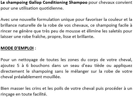 Shampoing rinçage facile Gallop Carr & Day & Martin