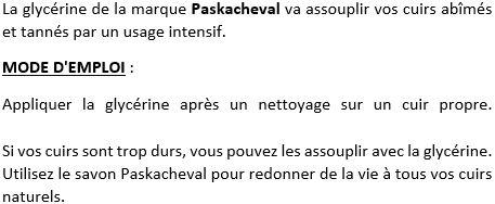 Glycérine pour cuir Paskacheval