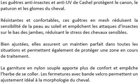 Guêtres anti-mouches Cashel