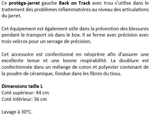Protège-jarret ouvert Back on Track