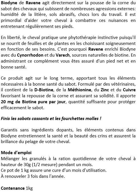 Biotine 1 kg Biodyne Ravene